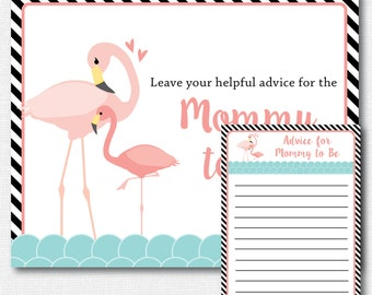 flamingo baby shower advice card baby advice card flamingo themed baby shower summer