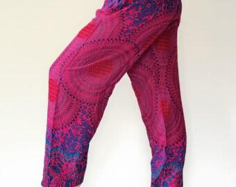 SM00 Thai Genie Pants Comfy Trouser, Gypsy Pants Rayon Pants,Aladdin Pants Maxi Pants Boho Pants