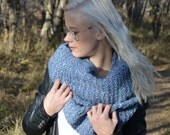 SALE Tight Knit Blanket Infinity Scarf (Blue Speckle) Support Mission 180