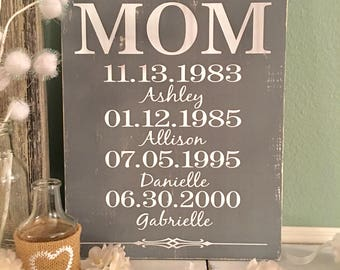 Personalized Mom Gift   Moms Greatest Blessings Sign   Mothers Day Gift   Mom Birthday Gift   Mother's Day Gift for Grand