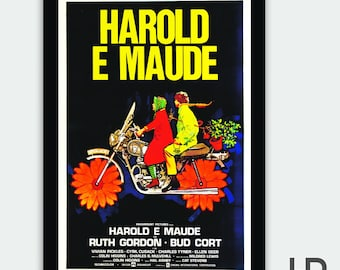 Harold & Maude Portuguese Theatrical Movie Poster • Digital Download Print • Bud Cort and Ruth Gordon