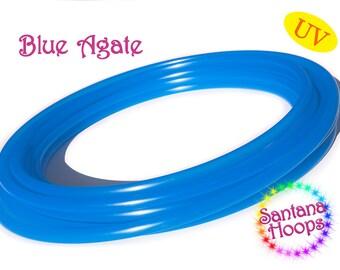 "3/4"" UV Blue Agate  Polypro Hula Hoop semi Translucent"