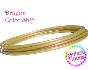 5/8 Mini Twins  Dragon Color shift Polypro Hula Hoop Minis