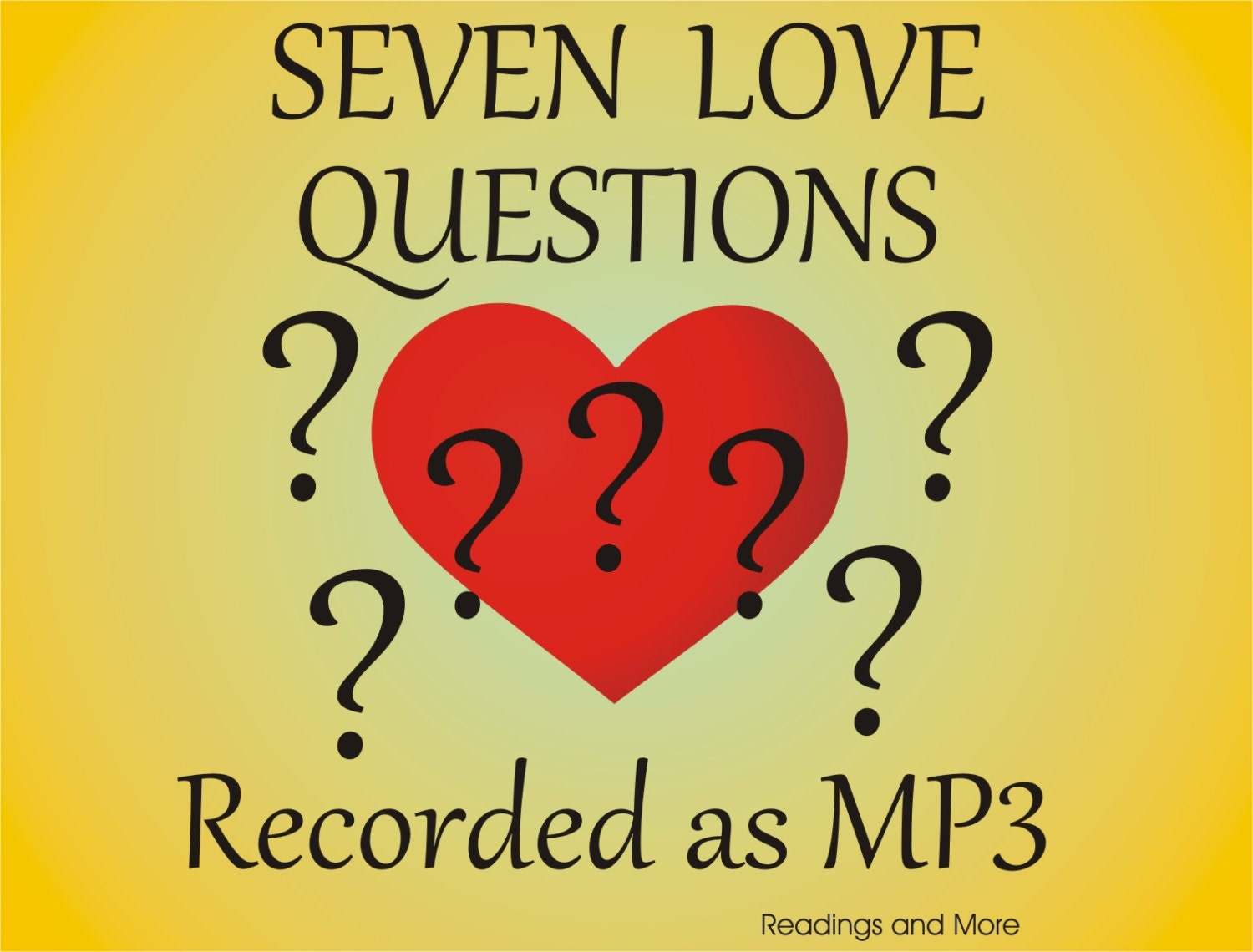Question For Love Relationship Seven Questions...