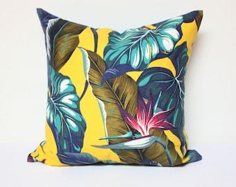18x18 Tropical pillow cover, amazon pillow cover, outdoor pillow cover, palms pillow cover