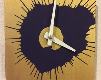 Spin Art Wall Clock
