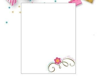 Personalized Notepad, custom, monogram