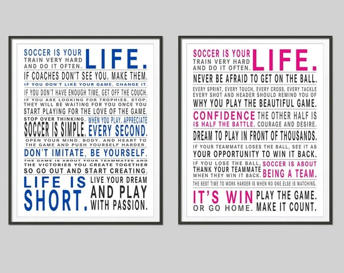 Soccer Is Your Life - Original Manifesto Poster Print Combo Pack