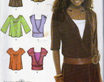 Misses' Knit Tops Sewing Pattern, Simplicity Pattern, Simplicity 3790. Ladies Size 6,8,10,12 and 14, Uncut, 6 Made Easy Tops Pattern