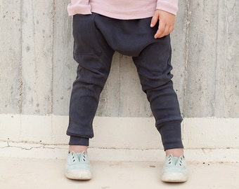 Kids Leggings - Kids Harem Pants <<8 Days Delivery To US>> Kids Clothes, Boy Toddler, Toddler Boy Clothes, Toddler Harem Pants - Coal Gray