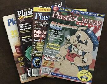 Lot of 4 Plastic Canvas Magazines 1989-2002