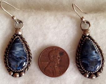 Pietersite Earrings, Sterling Silver, Southwestern Style