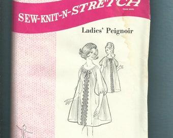 1969 Sew-Knit-Stretch 215 Ladies Peignoir Pattern Sizes Small Medium Large UNCUT