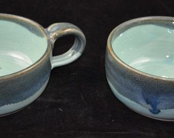 Set of 2 blue bowls