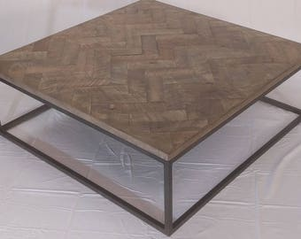 Maple Herringbone Coffee Table