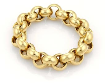 18917 - Tiffany & Co. 18k Yellow Gold Large Hefty Bracelet - 91gr- 8.25""
