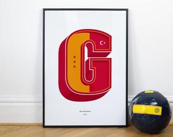 Galatasary - Football Typography Wall Art Print