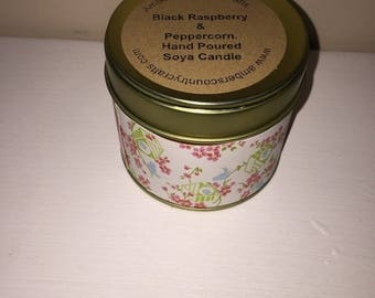 Soy Candle  Tin  in Various Scents 200grams