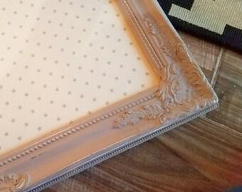 Ornate Framed Bulletin Board ~Shabby Chic Fabric Cork Board ~ Nursery Memo Board