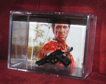"""L@@k~Scarface Collectible Pist Off (inspired by) display""""cool"""" for the collection.."""
