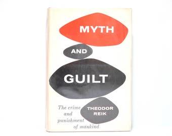 Bill English Jacket Design ~ Myth and Guilt by Theodor Reik 1957 Vintage Book