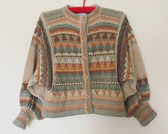 Rachel Grimmer vintage knit balloon sleeve cardigan