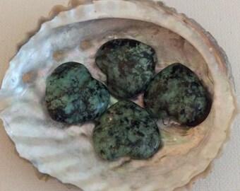 Turquoise Small Gemstone Heart Stones, Green Turquoise, Healing Stones, Healing Crystal,Chakra Stones, Spiritual Stone