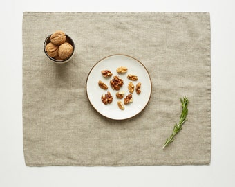 Natural Stone Washed Linen Placemat