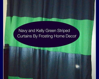 Custom Listing for 1 Black and Cream Striped Curtain Panel