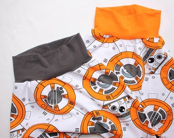 Star Wars BB8 Harem Pants 0 3 6 12 18 24 months 2T 3T 4 5 6 Baby Star Wars Outfit Toddler Star Wars BB-8 Robot pants Baby Star Wars costume