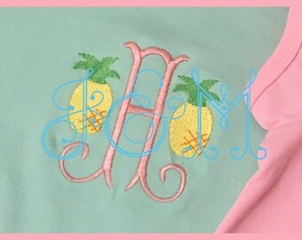Mini Pineapple Motif Embroidery Design