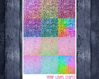 Rainbow Glitter Headers for ECLP or Happy Planner