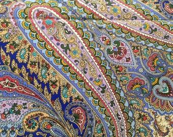 Shawl silk natural 100%. Russia, Pavlovo Posad