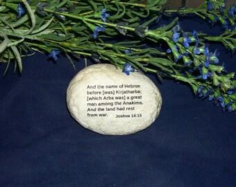 Bible Giant Nephilim Anakims Joshua 14:15 Gift Rock Art New