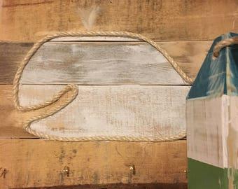 Sale//Rustic Whale Decor//Whale Wall Art//Whale Keyholder//Beach Wall Art//Baby Gift//Beach Art//Whale Key Holder//Nautical Decor//