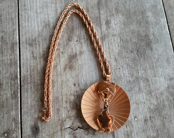 Bell Trading Post Copper Cat Necklace - Mod Design
