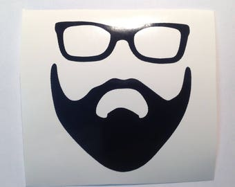 DIY Personalized Beard Eyeglasses Geek Cool Dude Beer Glass Vinyl Decals/Stickers Make Your Own Wedding Tumblers