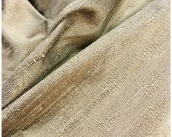 "Gold silk Dupioni, 45"" width"