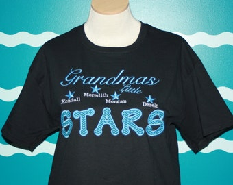 Grandma t-shirt - grandparent t-shirt - custom made grandparent tshirt - grandma little stars shirt - Grandparent bragging shirt