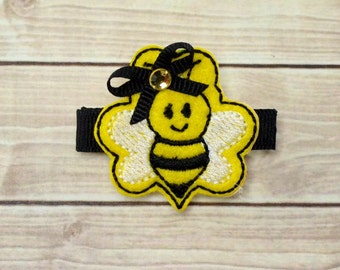 Bumblebee Hair Clip, Bee Hair Clip, Bee Hair Bow, Bumblebee Hair Bow, Bee Clip, Baby Hair Clip, Feltie, Felt Clip, Bee Bow, Toddler Hair Bow