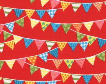 1/2 Yard - Bloomin Fresh Banner Red - 19663 12