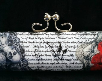 Edgar Allan Poe Clutch The Raven Clutch Poe Purse Raven Purse Gothic Clutch Book Clutch Book Purse Literature Purse Literature Clutch