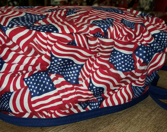 American Flag Surgical cap