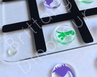 Dinosaur Acrylic and Vinyl Tic-Tac-Toe Board kids toys