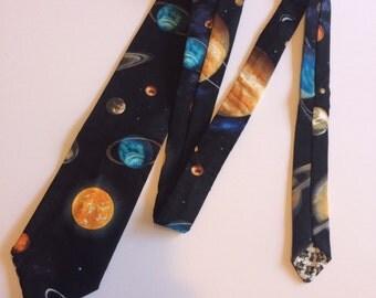 Outer space galaxy necktie