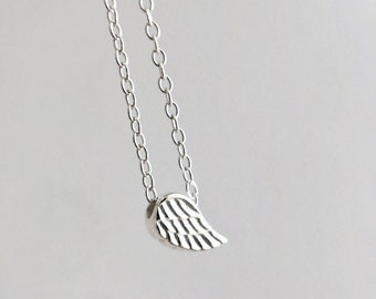 Always Near Memorial Necklace - angel wing necklace - wing jewelry - angels with us - faith jewelry