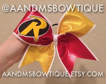 Robin Inspired Cheer Bow