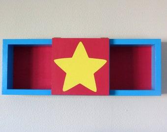 Steven Universe - Shadow Box Shelf - Home Decor - Figurine Storage - Cubbie Shelf - Hand Made - Hand Painted