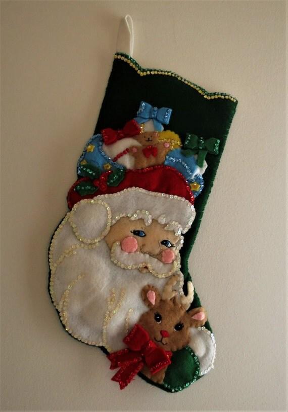Santa Claus Felt Stockings Bucilla Designs Page Seven