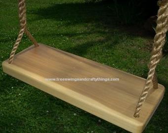Wood Tree Swing- Poplar 4 Hole